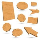 escrituras de la etiqueta de madera 3d libre illustration