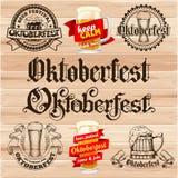 Escrituras de la etiqueta de Oktoberfest Fotografía de archivo