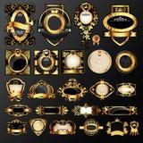Escrituras de la etiqueta de oro Imagenes de archivo