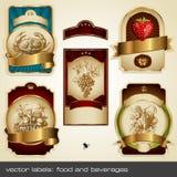 Escrituras de la etiqueta de oro II Foto de archivo libre de regalías