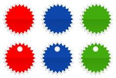 Escrituras de la etiqueta de precio de la estrella Imagen de archivo libre de regalías