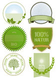 Escrituras de la etiqueta del alimento biológico Imágenes de archivo libres de regalías