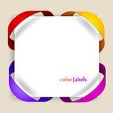 Escrituras de la etiqueta del color Imágenes de archivo libres de regalías