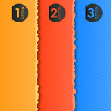 Escrituras de la etiqueta del color para su texto (con efecto rasgado) Foto de archivo