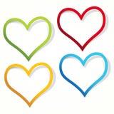 Escrituras de la etiqueta del corazón. Imagen de archivo libre de regalías