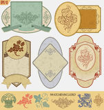 Escrituras de la etiqueta del estilo de la vendimia Imagenes de archivo