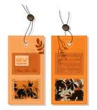 Escrituras de la etiqueta del otoño Imágenes de archivo libres de regalías