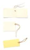 Escrituras de la etiqueta del papel Foto de archivo