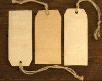Escrituras de la etiqueta del papel del árbol Fotografía de archivo libre de regalías