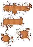 Escrituras de la etiqueta del remolino del papel de Grunge Foto de archivo libre de regalías