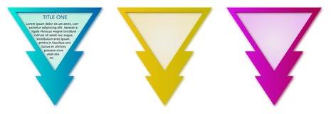 Escrituras de la etiqueta del triángulo Imagen de archivo libre de regalías