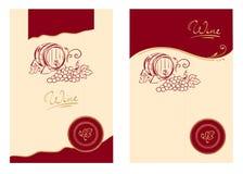 Escrituras de la etiqueta del vino Fotos de archivo