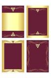 Escrituras de la etiqueta del vino Imagen de archivo