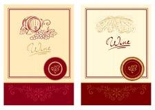 Escrituras de la etiqueta del vino Foto de archivo libre de regalías