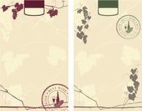 Escrituras de la etiqueta del vino Imágenes de archivo libres de regalías