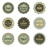Escrituras de la etiqueta del vintage. Foto de archivo libre de regalías