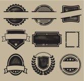 Escrituras de la etiqueta, divisas, y sellos de la vendimia Foto de archivo