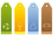 Escrituras de la etiqueta ecológicas ilustración del vector