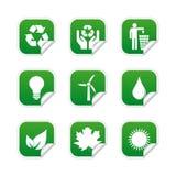 Escrituras de la etiqueta ecológicas Fotos de archivo libres de regalías