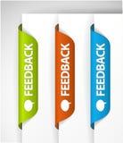 Escrituras de la etiqueta/etiquetas engomadas del feedback ilustración del vector