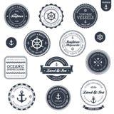 Escrituras de la etiqueta náuticas de la vendimia