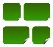 Escrituras de la etiqueta o etiquetas engomadas verdes del eco Fotos de archivo libres de regalías