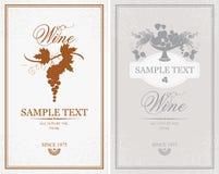 Escrituras de la etiqueta para el vino Foto de archivo libre de regalías