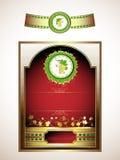 Escrituras de la etiqueta para el vino rojo Foto de archivo libre de regalías
