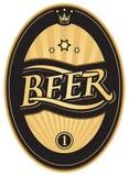 Escrituras de la etiqueta para la cerveza Imagen de archivo libre de regalías