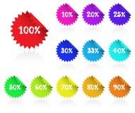 Escrituras de la etiqueta pegajosas de la comercialización. Imagen de archivo libre de regalías