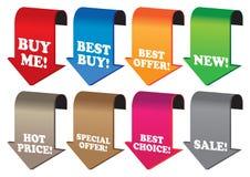 Escrituras de la etiqueta promocionales de la venta Foto de archivo libre de regalías
