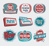 Escrituras de la etiqueta retras de la vendimia libre illustration