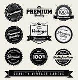 Escrituras de la etiqueta superiores de la calidad del estilo de la vendimia Imagen de archivo libre de regalías