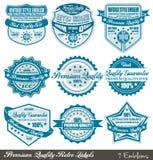 Escrituras de la etiqueta superiores de la garantía de la calidad y de la satisfacción Imágenes de archivo libres de regalías