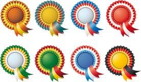 Escrituras de la etiqueta tricolores Fotografía de archivo libre de regalías