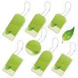 Escrituras de la etiqueta verdes del eco Fotos de archivo