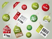 Escrituras de la etiqueta y divisas de la venta Imagen de archivo libre de regalías