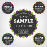 Escrituras de la etiqueta y etiquetas engomadas del vector Imagen de archivo libre de regalías