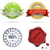 Escrituras de la etiqueta y sellos de la calidad Imagen de archivo libre de regalías