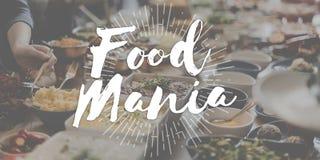 Escroquerie délicieuse savoureuse de cuisine de Mania Foodie Food Lover Gourmet de nourriture Images libres de droits