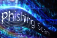 Escroquerie de Phishing sur l'écran numérique Photographie stock libre de droits