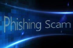 Escroquerie de Phishing sur l'écran numérique Photographie stock