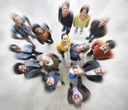 Escroquerie diverse de vue aérienne de bonheur d'unité d'amitié de personnes Photos libres de droits