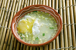 Escroquerie Huevo de Changua Photo stock