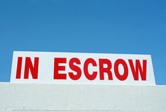 In Escrow. Sign, used by realtors Stock Photos