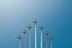 Escuadrilla acrobática del vuelo Imagen de archivo libre de regalías