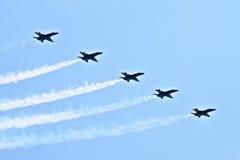 Escuadrilla de la demostración de los ángeles azules Fotos de archivo