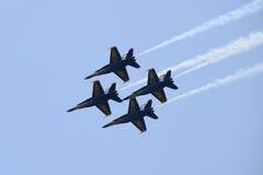 Escuadrilla de la demostración de los ángeles azules Foto de archivo libre de regalías