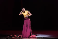 Escucha- ` de Cangyangjiacuo del drama de la danza `` Imagen de archivo libre de regalías