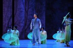 Escuche la lluvia consiguen el acto de la inspiración- en segundo lugar de los eventos del drama-Shawan de la danza del pasado Imagen de archivo libre de regalías